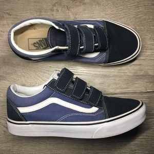 Velcro blue and black vans